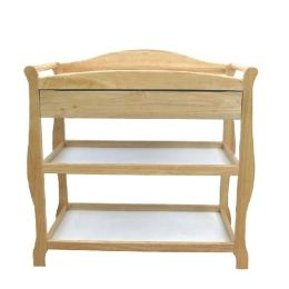 L.A. Baby Changing Table w/Drawer -  Natural
