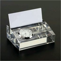 Clock Business Card Holder