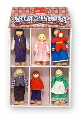 Wooden Family Doll Set