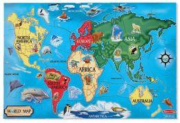 World Map Floor (33 pc)