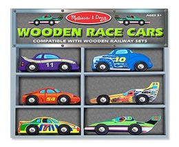 Melissa & Doug LCI682 Wooden Vehicle Set Race Cars