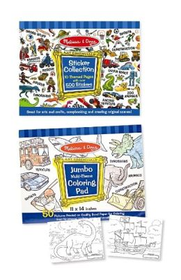 Boys Coloring / Sticker Pad Bundle
