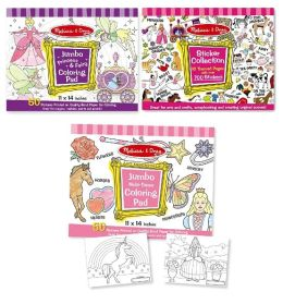 Girls Coloring Book Activity Bundle