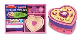 Decorate-Your-Own Kit - Wooden Heart Chest