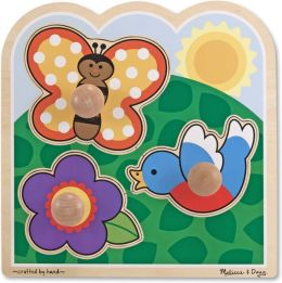 Melissa & Doug Jumbo Knob Puzzle - In the Garden