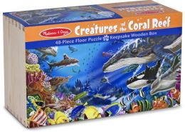 Wood Box Floor Puzzle - Creatures of the Coral Reef