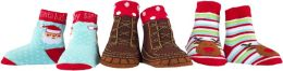 Frosty Feet Christmas Socks, 3-pack boys