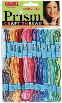 Prism Six-Strand Floss Pack 8 Meters 36/Pkg-Variegated