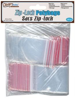 American Classics Corp 491139 Ziplock Polybags 2 in. x 3 in. 120-Pkg - Pack of 6