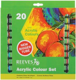 Reeves Acrylic Paints 22ml 20/Pkg-Assorted Colors