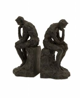 Lighting Business 53016-2 Thinking Man Bookends - Set of 2