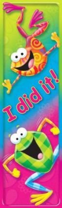 TREND ENTERPRISES INC. T-12062 I DID IT FROG-TASTIC BOOKMARKS