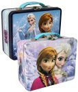 Product Image. Title: Frozen Anna & Elsa Assorted Tin Lunch Tote