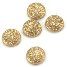 Dress It Up Glitter Dots 8mm 15/Pkg-14 Karat