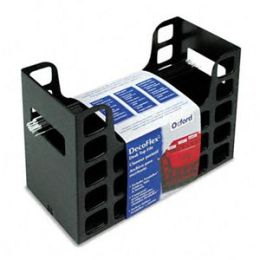Oxford 23013 DecoFlex Letter Size Desktop Hanging File- Plastic- 12 1/4 x 6 x 9 1/2- Black