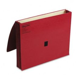 Wilson Jones 7194R ColorLife 3 in Expansion Wallets with Velcro Gripper Letter Red
