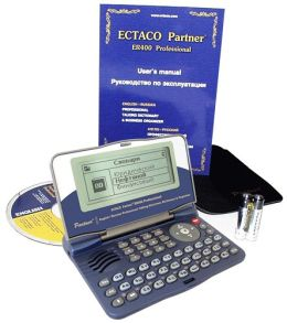 ECTACO Bilingual Professional Talking Electronic Dictionary & Business Organizer ECTACO English Russian Partner ER400 Professional