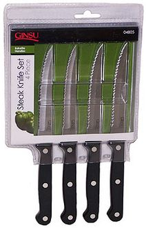 Ginsu 04805 4 Piece Bakelite Steak Knife Set