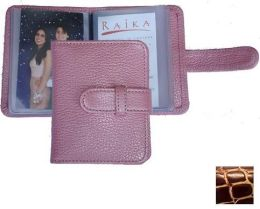 Raika JU 108 WINE 3in. x 4in. Wallet Photo Card Case - Wine