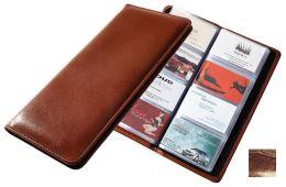 Raika NI 126 BROWN 96 Desk Card Case - Brown