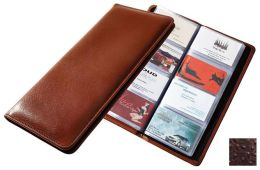 Raika AN 126 BROWN 4.5in. x 10.25in. Leather Desk Card Holder - Brown