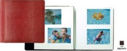 Raika AN 133 BROWN 12.5in. x 12.5in. Magnetic Photo Album - Brown