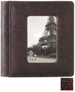 Raika AN 168 BROWN 4in. x 6in. Foldout Front Framed Photo Album - Brown