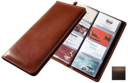 Raika RO 126 MOCHA 96 Desk Card Holder Case - Mocha