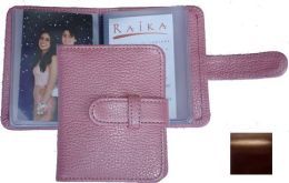 Raika RM 108 BROWN 3 x 4 Wallet Photo Card Case - Brown