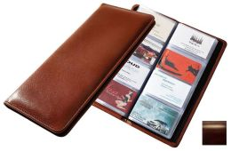 Raika RM 126 BROWN 96 Desk Card Holder - Brown