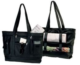 Royce Leather 652-BLACK-3 Business Tote - Black