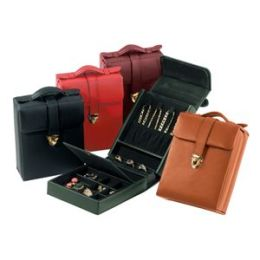 Royce Leather 924-GREEN-5 Ladies Pocketbook Jewelry Case - Green