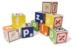 Braille Alphabet Blocks with American Sign Language