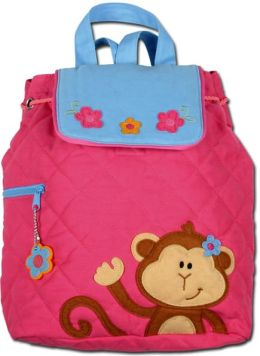Quilted Backpack - Girl Monkey