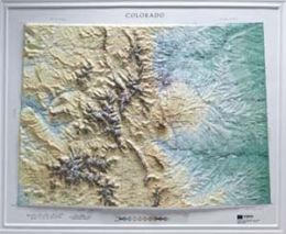 Hubbard Scientific Raised Relief Map 950 Colorado State Map
