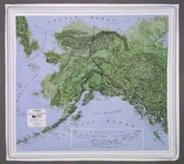 Hubbard Scientific Raised Relief Map K-AK2421 Alaska NCR Series
