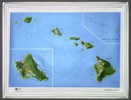Hubbard Scientific Raised Relief Map K-HI2217 Hawaii NCR Series