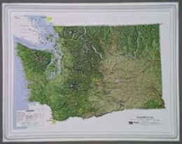 Hubbard Scientific Raised Relief Map K-WA2217 Washington NCR Series