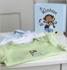 Three Little Monkeys Short Sleeves Bodysuits Set (3 Months)