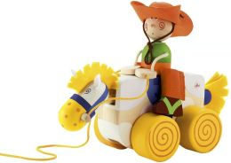 Cowboy Pull Along Wooden Toy