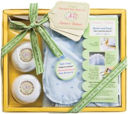Ammee's Babies Hemstitched Receiving Blanket Kit-Blue