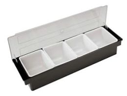 Paderno World Cuisine ABS Plastic Bar Cocktail Container (4 storage compartments)