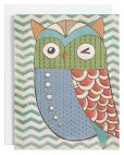 Product Image. Title: Molly & Rex Owl Boxed Note Card Set of 8
