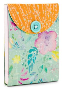 Turquoise Garden Mini Pocket Button Note Pad