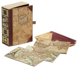 Maps Cigar Box Note Card Set of 12
