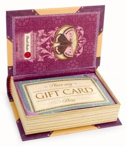 Floral Bouquet Purple Book Box Gift Card Holder