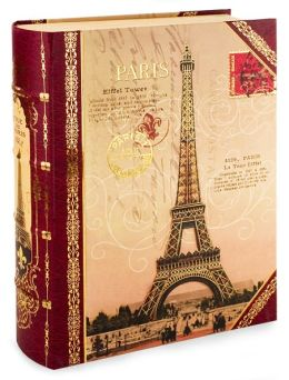 Large Eiffel Decorative Book Box