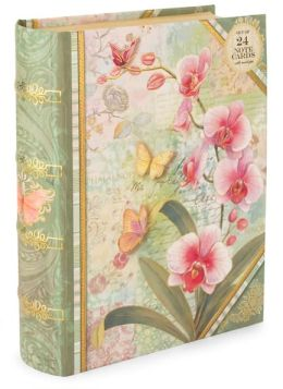 Orchid Tapestry Book Box Duo Note Cards