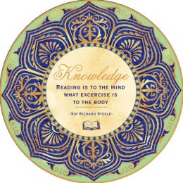 ''Reading is to the Mind'' French Crystal Paperweight 3.5''