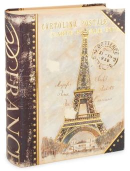 Medium Navy Eiffel Book Box 11 x 8.5
